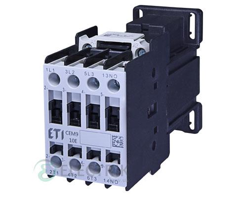 Контактор CEM 09.10 220V/DC 9A 4kW AC3, ETI (Словения)