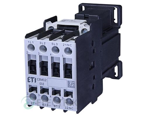 Контактор CEM 12.01 220V/DC 12A 5,5kW AC3, ETI (Словения)