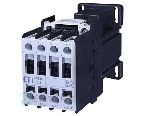 Контактор CEM 18.01 220V/DC 18A 7,5kW AC3, ETI (Словения)