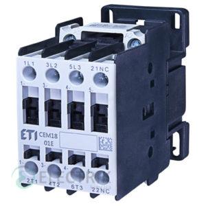 Контактор CEM 18.01 24V/AC 18A 7,5kW AC3, ETI (Словения)
