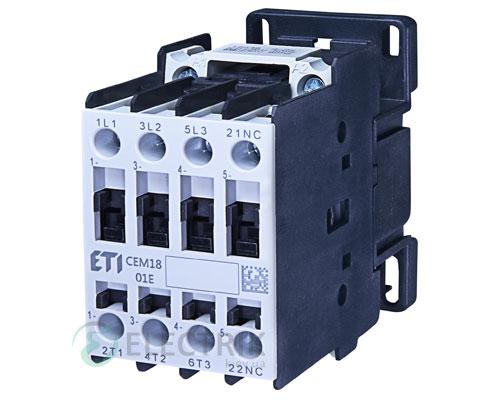 Контактор CEM 18.01 400V/AC 18A 7,5kW AC3, ETI (Словения)