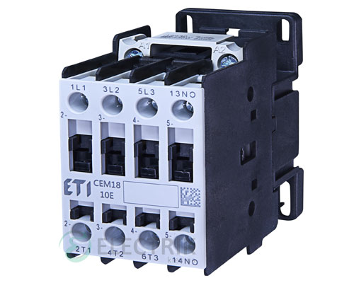 Контактор CEM 18.10 110V/AC 18A 7,5kW AC3, ETI (Словения)