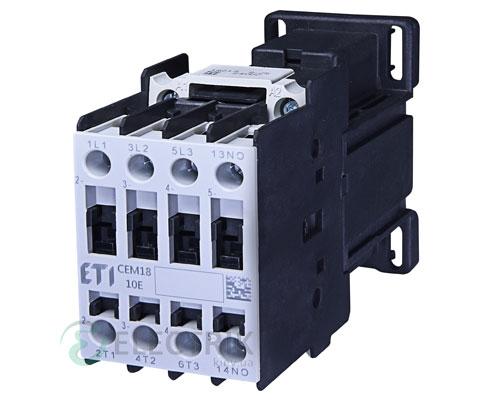 Контактор CEM 18.10 24V/DC 18A 7,5kW AC3, ETI (Словения)
