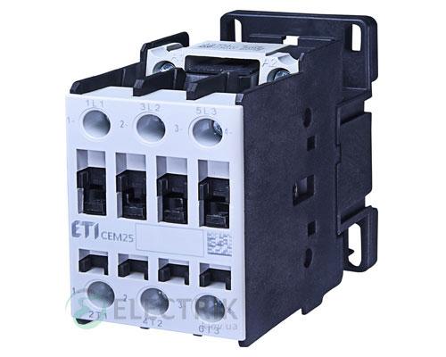 Контактор CEM 25.01 400V/AC 25A 11kW AC3, ETI (Словения)