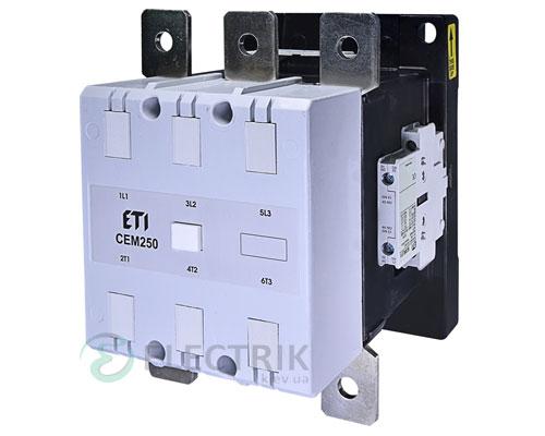 Контактор CEM 250.22 230V/AC 250A 132kW AC3, ETI (Словения)