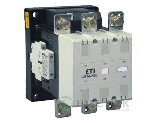 Контактор CEM 250.22 48V/AC 250A 132kW AC3, ETI (Словения)