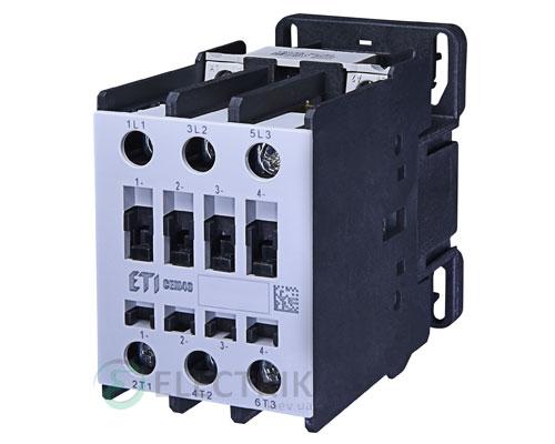 Контактор CEM 40.11 24V/DC 40A 18,5kW AC3, ETI (Словения)