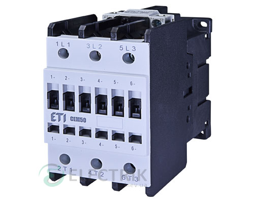 Контактор CEM 50.00 400V/AC 50A 22kW AC3, ETI (Словения)