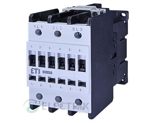 Контактор CEM 50.11 110V/AC 50A 22kW AC3, ETI (Словения)