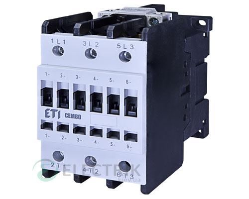 Контактор CEM 80.11 400V/AC 80A 37kW AC3, ETI (Словения)