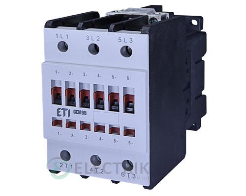 Контактор CEM 95.11 24V/AC 95A 45kW AC3, ETI (Словения)