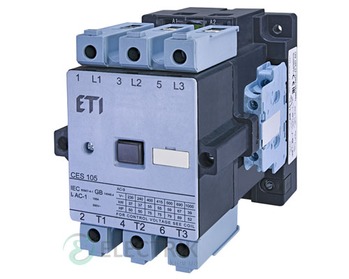 Контактор CES 105.22 230V/AC 105A 55kW AC3, ETI (Словения)