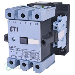 Контактор CES 65.22 230V/AC 65A 30kW AC3, ETI (Словения)
