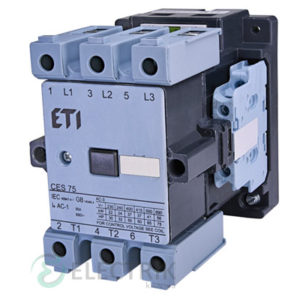 Контактор CES 75.22 230V/AC 75A 37kW AC3, ETI (Словения)