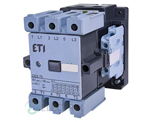Контактор CES 75.22 24V/AC 75A 37kW AC3, ETI (Словения)