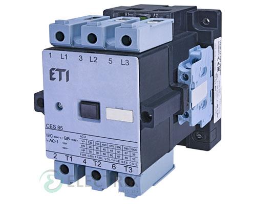 Контактор CES 85.22 230V/AC 85A 45kW AC3, ETI (Словения)