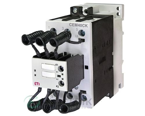 Контактор конденсаторный CEM 40CK.01 40кВАр 400-440V, ETI (Словения)