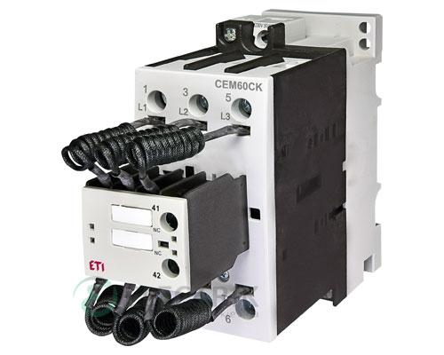 Контактор конденсаторный CEM 60CK.01 60кВАр 400-440V, ETI (Словения)