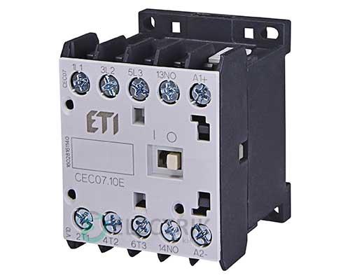 Контактор миниатюрный CEC 07.10 230V/AC 7A 3kW AC3, ETI (Словения)