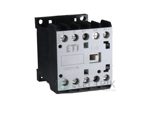 Контактор миниатюрный CEC 09.01 220V/DC 9A 4kW AC3, ETI (Словения)