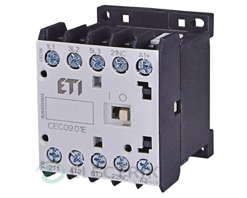 Контактор миниатюрный CEC 09.01 230V/AC 9A 4kW AC3, ETI (Словения)