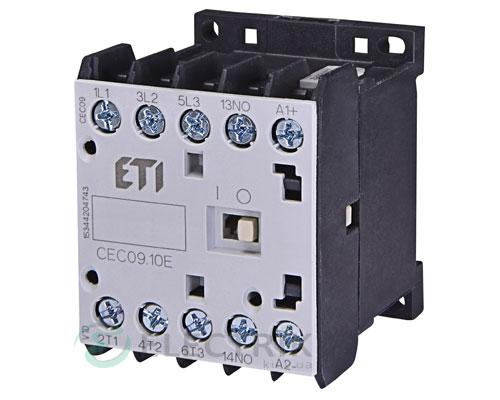 Контактор миниатюрный CEC 09.10 230V/AC 9A 4kW AC3, ETI (Словения)