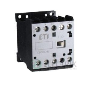 Контактор миниатюрный CEC 09.PR 24V/DC 9A 4kW AC3, ETI (Словения)