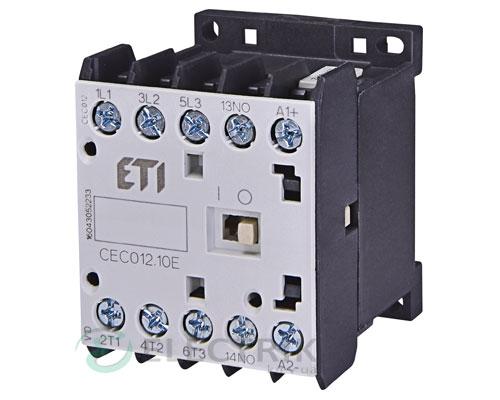 Контактор миниатюрный CEC 12.10 24V/DC 12A 5,5kW AC3, ETI (Словения)