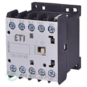 Контактор миниатюрный CEC 12.10 400V/AC 12A 5,5kW AC3 4р (4НО), ETI (Словения)
