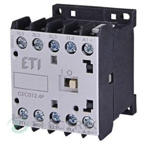 Контактор миниатюрный CEC 12.4Р 24V/DC 12A 5,5kW AC3 4р (2НО+2НЗ), ETI (Словения)