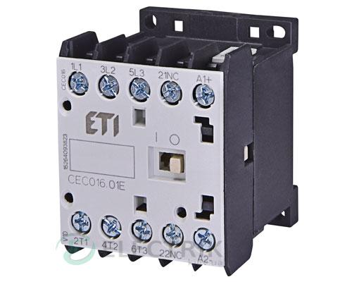 Контактор миниатюрный CEC 16.01 230V/AC 16A 7,5kW AC3, ETI (Словения)
