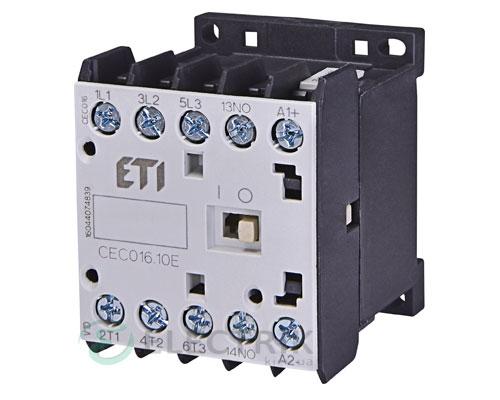 Контактор миниатюрный CEC 16.10 110V/AC 16A 7,5kW AC3, ETI (Словения)