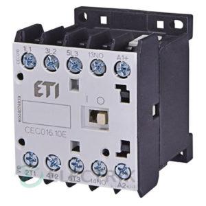 Контактор миниатюрный CEC 16.10 24V/DC 16A 7,5kW AC3, ETI (Словения)