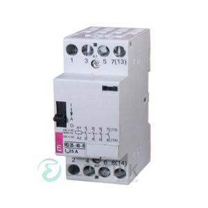 Контактор модульный R-R 25-22 25A 24V AC 2NO+2NC с ручным управлением, ETI (Словения) 2464061