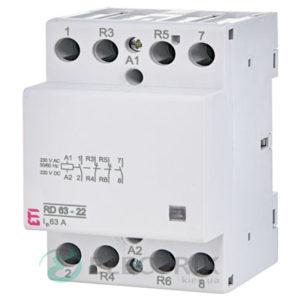 Контактор модульный RD 63-22 63A 230V AC/DC 2NO+2NC, ETI (Словения) 2464030