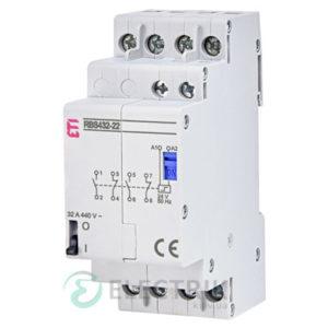 Контактор модульный импульсный RBS 420-22 20A 24V AC 2NO+2NC, ETI (Словения) 2464154