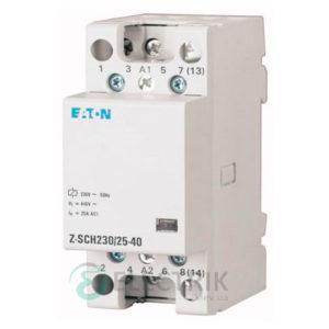 Модульный контактор 24В, 25А, 4НО EATON Z-SCH24/25-22 248850