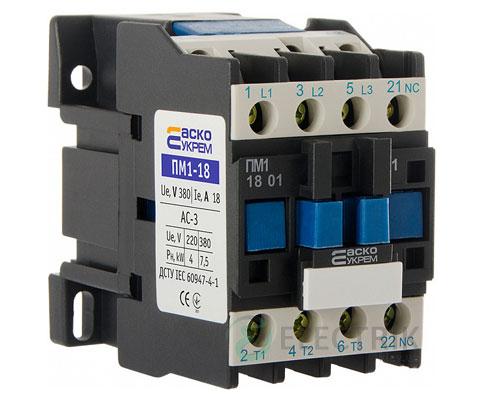 Контактор ПМ 1-18-01 Q7 18A 380B/AC 1НЗ АСКО-УКРЕМ