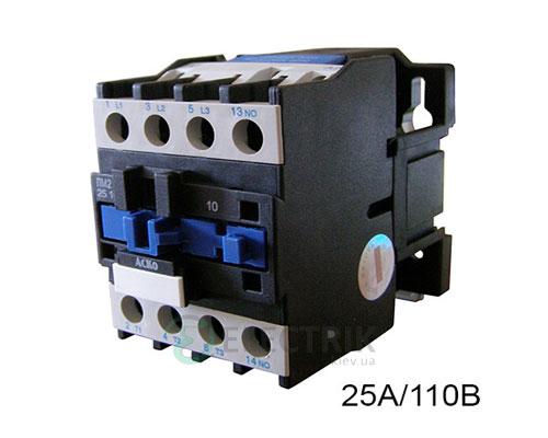 Контактор ПМ 2-25-10 F7 25A 110B/AC 1НО АСКО-УКРЕМ