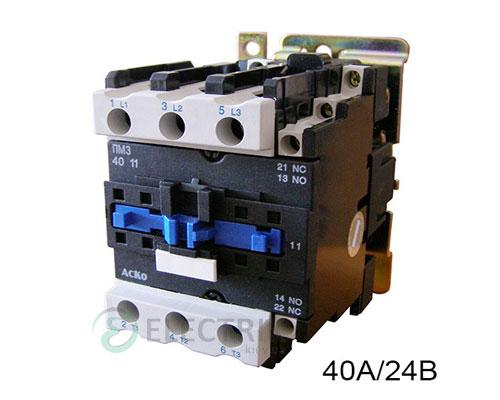 Контактор ПМ 3-40 B7 40A 24B/AC 1НО+1НЗ АСКО-УКРЕМ