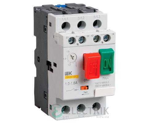 Пускатель ручной кнопочный ПРК32-2,5 In=2,5A Ir=1,6-2,5A Ue=660В
