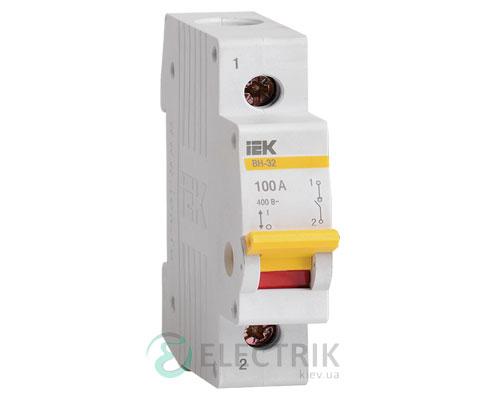 Выключатель нагрузки ВН-32 1P 100 А, IEK