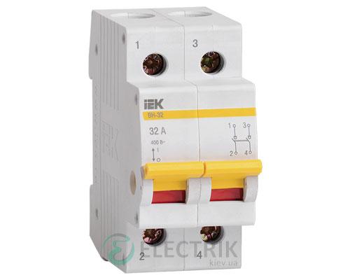 Выключатель нагрузки ВН-32 2P 32 А, IEK