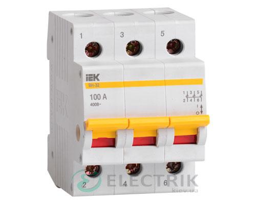 Выключатель нагрузки ВН-32 3P 100 А, IEK