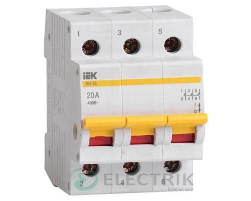 Выключатель нагрузки ВН-32 3P 20 А, IEK