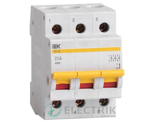 Выключатель нагрузки ВН-32 3P 25 А, IEK