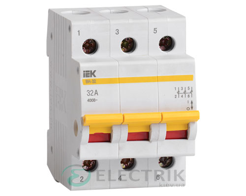 Выключатель нагрузки ВН-32 3P 32 А, IEK