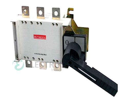 Выключатель-разъединитель 3P 125А с фронтально-боковой рукояткой e.industrial.ukgz.125.3, E.NEXT