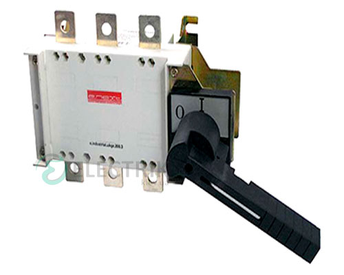 Выключатель-разъединитель 3P 200А с фронтально-боковой рукояткой e.industrial.ukgz.200.3, E.NEXT