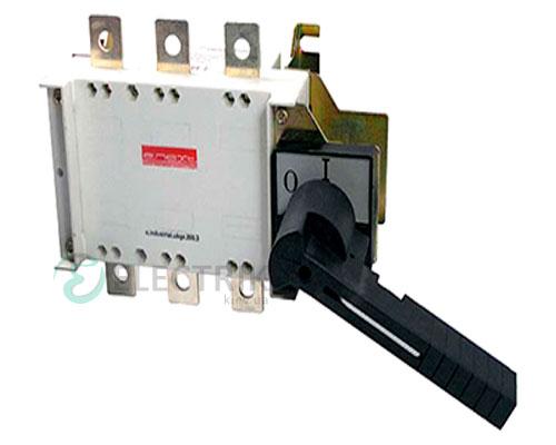 Выключатель-разъединитель 3P 500А с фронтально-боковой рукояткой e.industrial.ukgz.500.3, E.NEXT